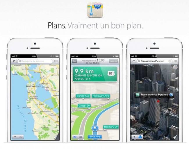 Google vs Apple : Plans est trois fois plus populaire que Google Maps sur iOS Apple-Plans2