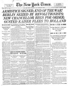 Le 11 novembre pour les nuls NYTimes-Page1-11-11-1918-237x300