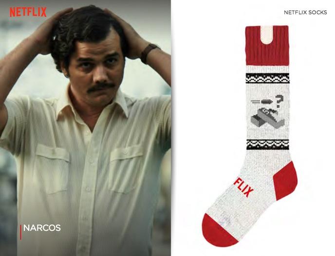 Des chaussettes qui stoppent votre série télé si vous vous endormez Narcos