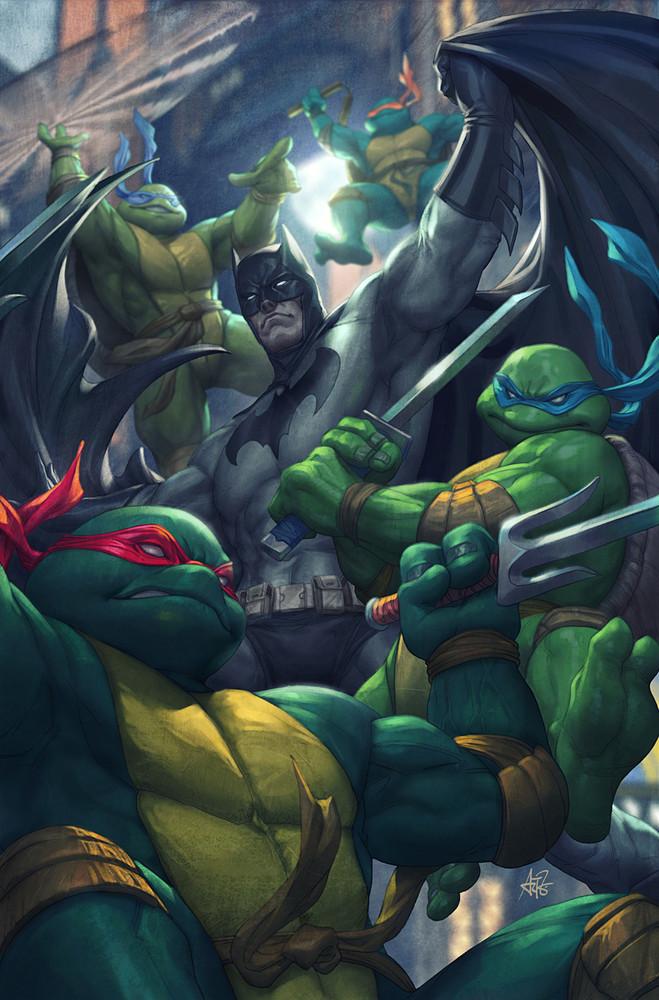 Batman vs Tortues Ninja : les premières images du crossover improbable ! TMNT
