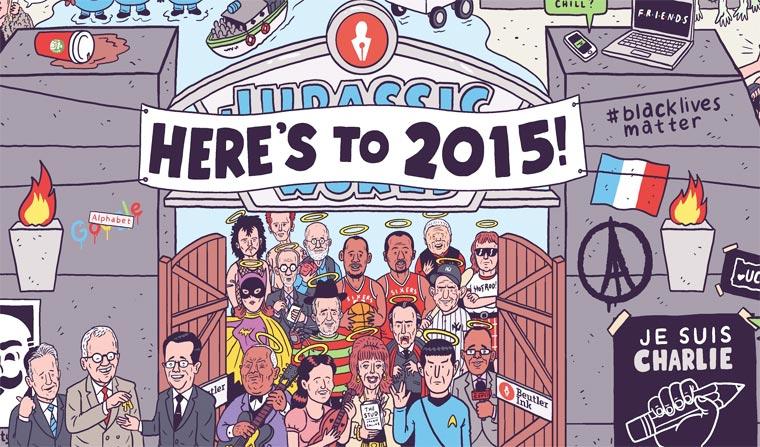 Un illustrateur regroupe sur une seule affiche tous les faits marquants de 2015 affiche-2015-luke-mcgarry-1