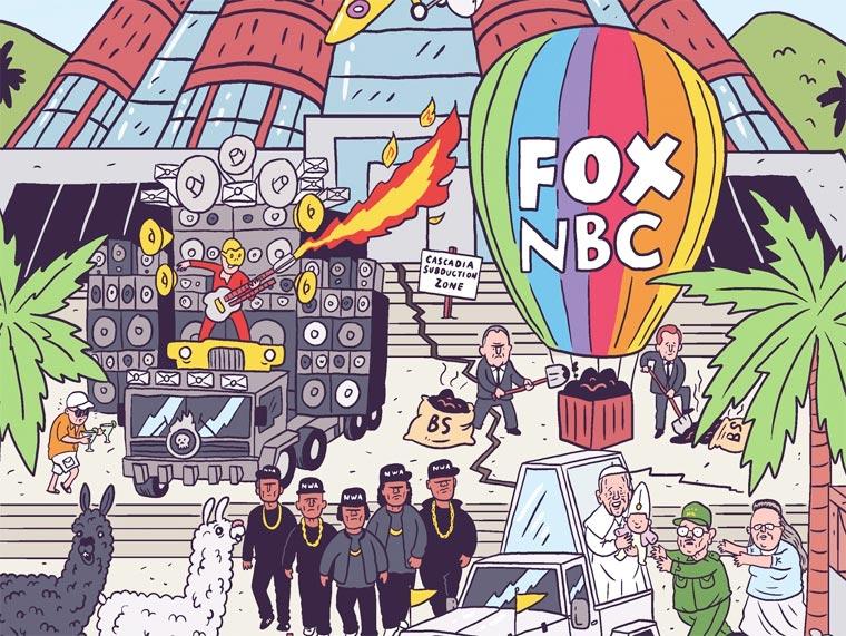 Un illustrateur regroupe sur une seule affiche tous les faits marquants de 2015 affiche-2015-luke-mcgarry-2