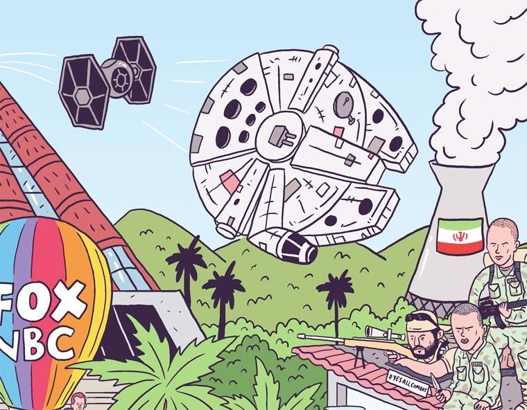 Un illustrateur regroupe sur une seule affiche tous les faits marquants de 2015 affiche-2015-luke-mcgarry-3
