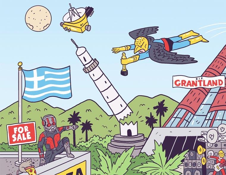 Un illustrateur regroupe sur une seule affiche tous les faits marquants de 2015 affiche-2015-luke-mcgarry-4
