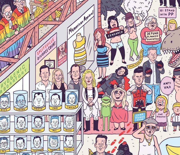 Un illustrateur regroupe sur une seule affiche tous les faits marquants de 2015 affiche-2015-luke-mcgarry-8