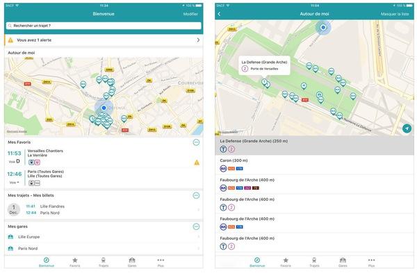 L'application de la SNCF affinée pour les utilisateurs Apple app-de-la-scnf