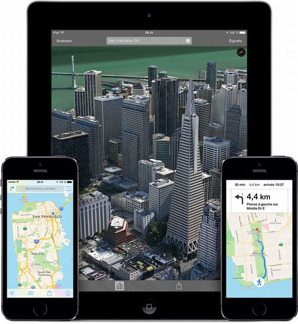 Google vs Apple : Plans est trois fois plus populaire que Google Maps sur iOS apple-plans