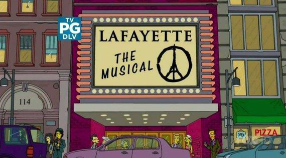"""""""Les Simpson"""" rendent hommage aux victimes des attentats de Paris attentats-de-paris-les-simpson-hommage"""