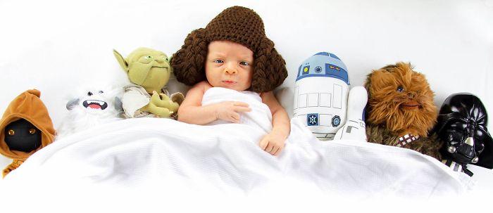 La petite fille de Mark Zuckerberg habillée comme un Jedi inspire d'autres parents bebe-habille-star-wars-1