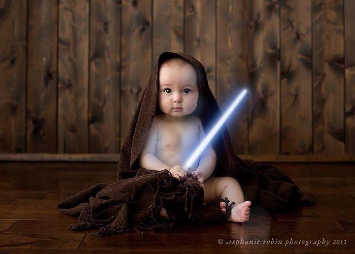 La petite fille de Mark Zuckerberg habillée comme un Jedi inspire d'autres parents bebe-habille-star-wars-10