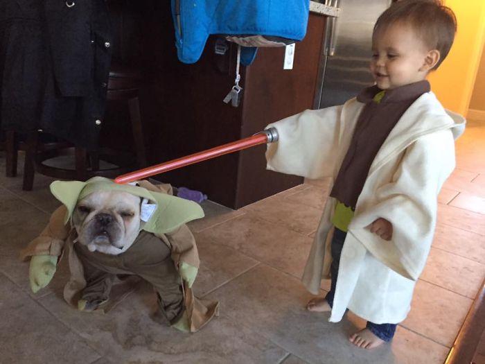 La petite fille de Mark Zuckerberg habillée comme un Jedi inspire d'autres parents bebe-habille-star-wars-2