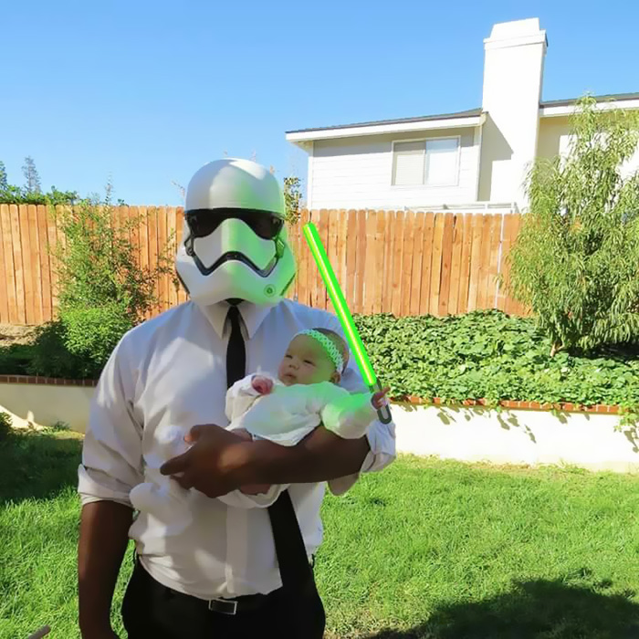 La petite fille de Mark Zuckerberg habillée comme un Jedi inspire d'autres parents bebe-habille-star-wars-4