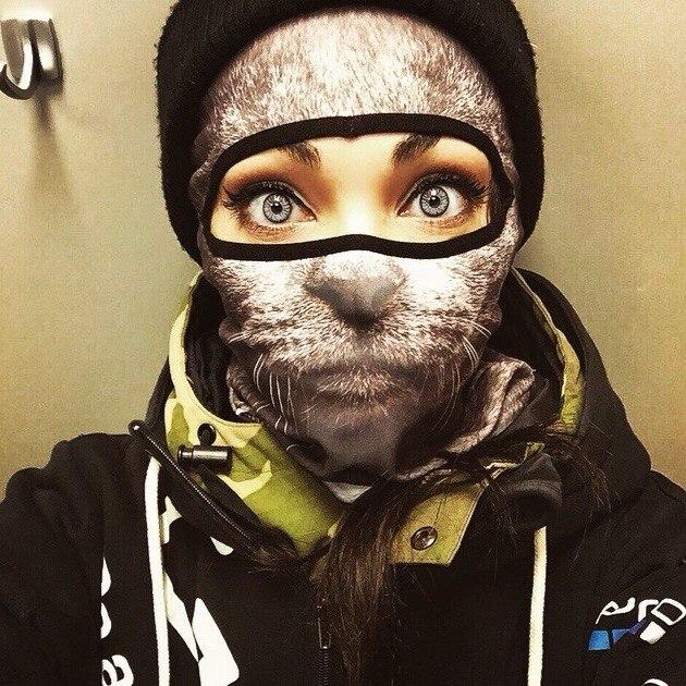 Transformez-vous en félin avec ces cagoules de ski originales cagoule-animaux-ski-1