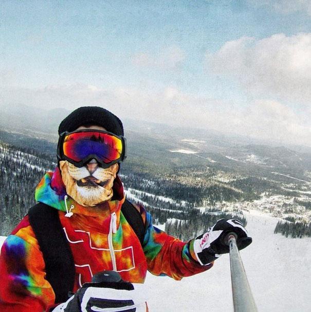 Transformez-vous en félin avec ces cagoules de ski originales cagoule-animaux-ski-6