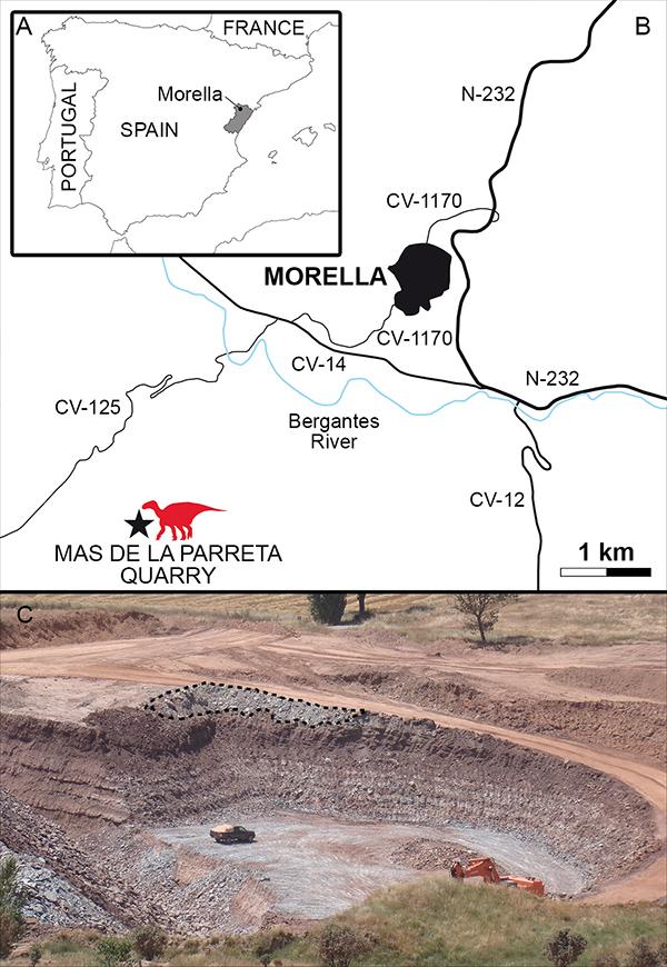 Un nouveau dinosaure découvert en Espagne ! carte