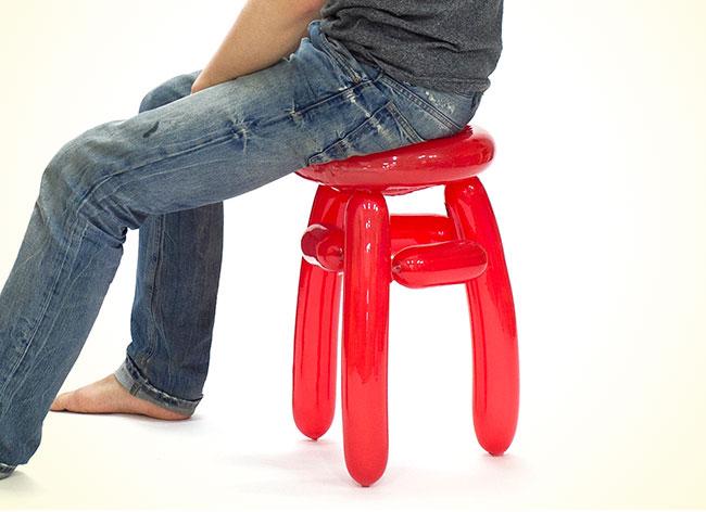 Un designer coréen crée des chaises en ballons de baudruche chaise-ballon-seungjin-yang-5