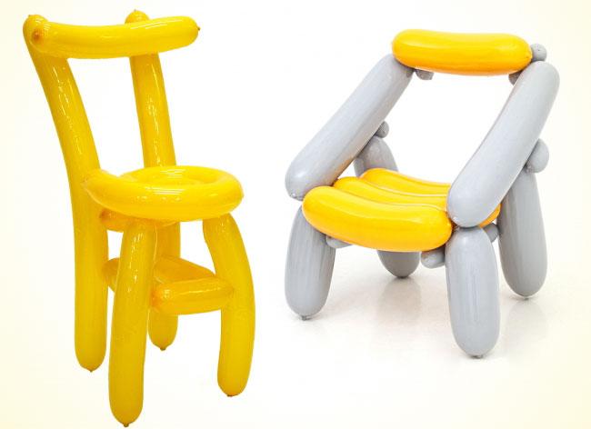 Un designer coréen crée des chaises en ballons de baudruche chaise-ballon-seungjin-yang-7