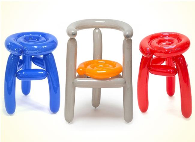 Un designer coréen crée des chaises en ballons de baudruche chaise-ballon-seungjin-yang-8