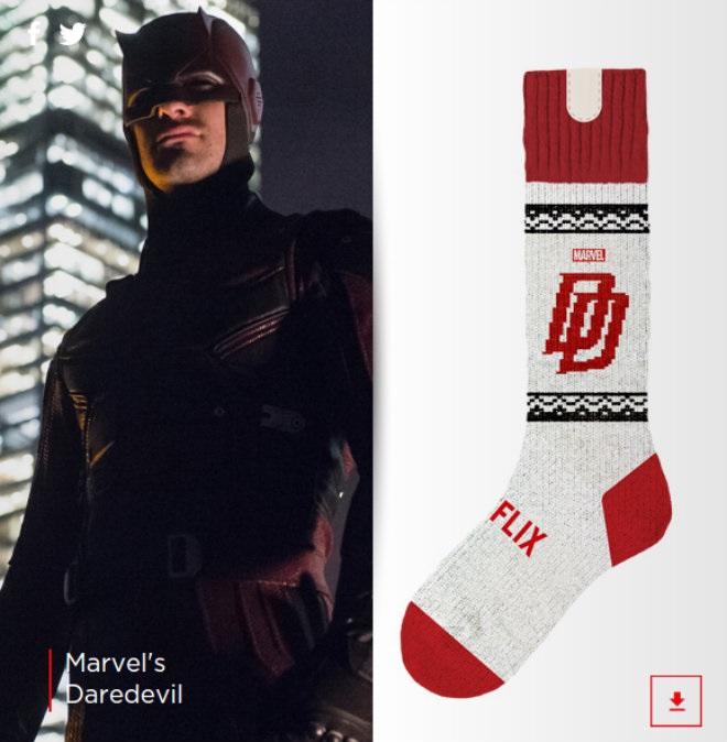 Des chaussettes qui stoppent votre série télé si vous vous endormez chaussette-netflix-daredevil