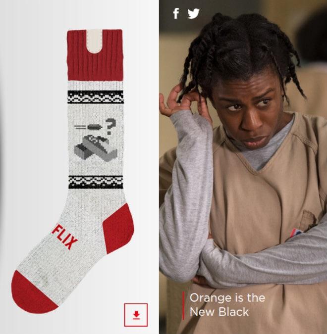 Des chaussettes qui stoppent votre série télé si vous vous endormez chaussette-netflix-orange-is-the-new-black