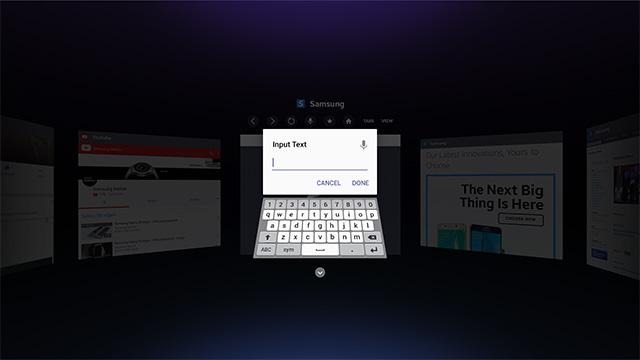 Samsung Gear VR : le casque de réalité virtuelle se dote d'un navigateur Internet clavier-internet-browser-samsung-gear-vr