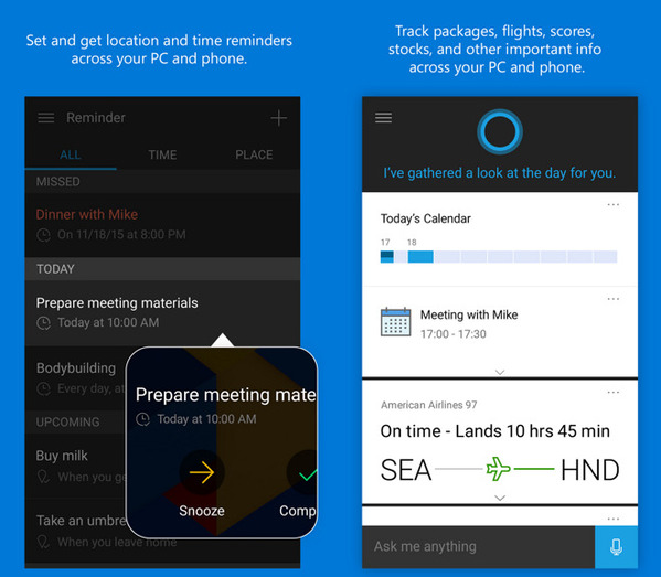 Cortana est maintenant disponible sous Android et iOS cortana