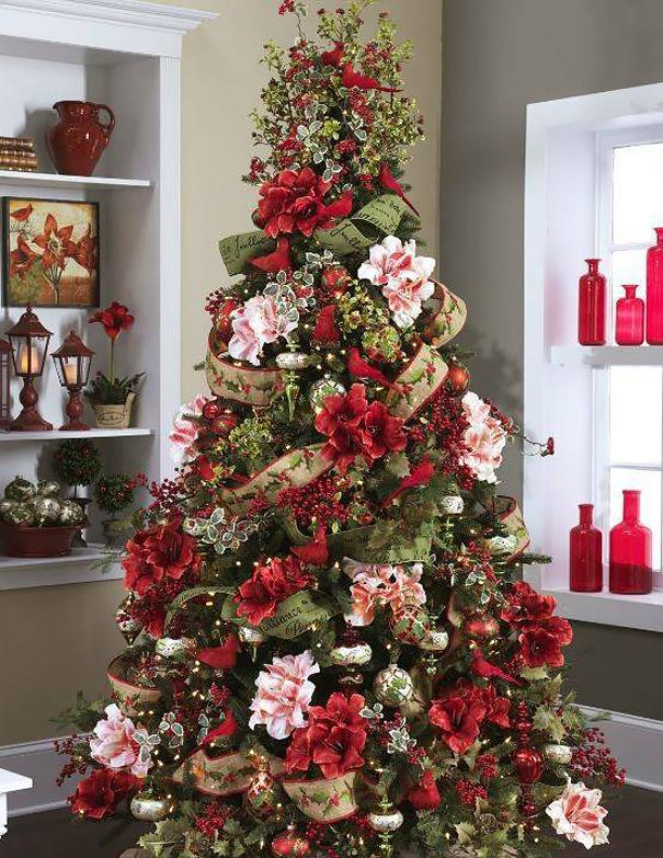 Décorez votre sapin de Noël avec des fleurs decorer-votre-sapin-avec-des-fleurs-11