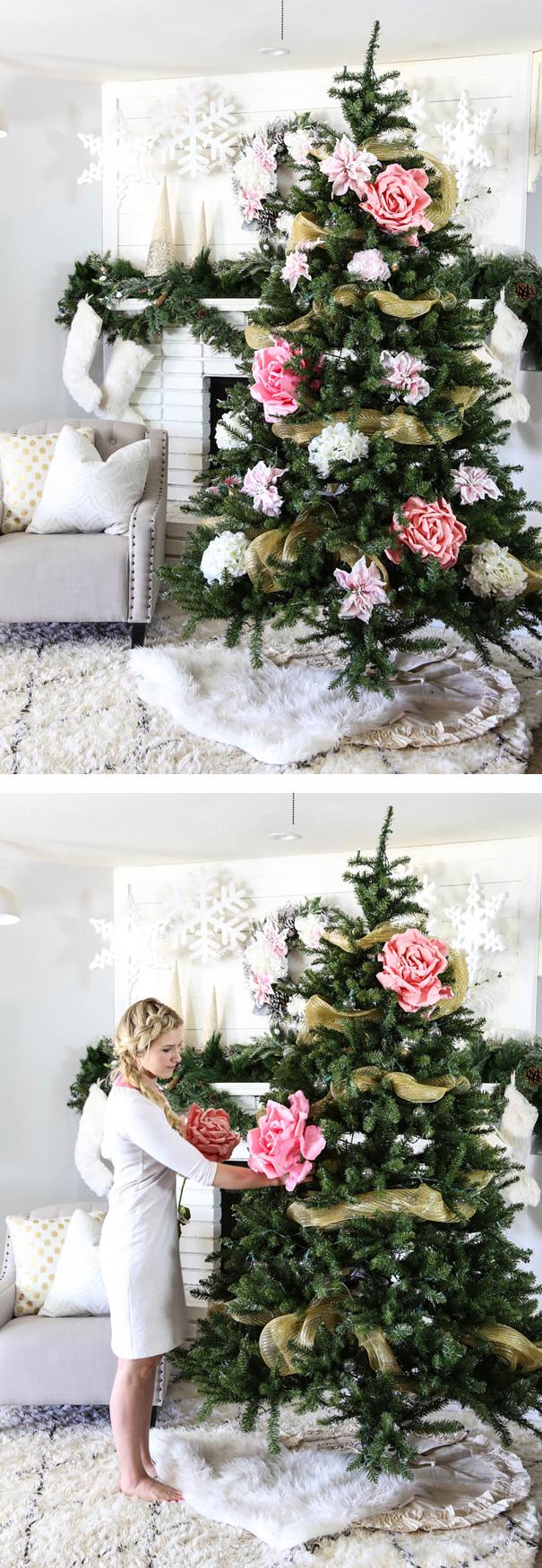 Décorez votre sapin de Noël avec des fleurs decorer-votre-sapin-avec-des-fleurs-7
