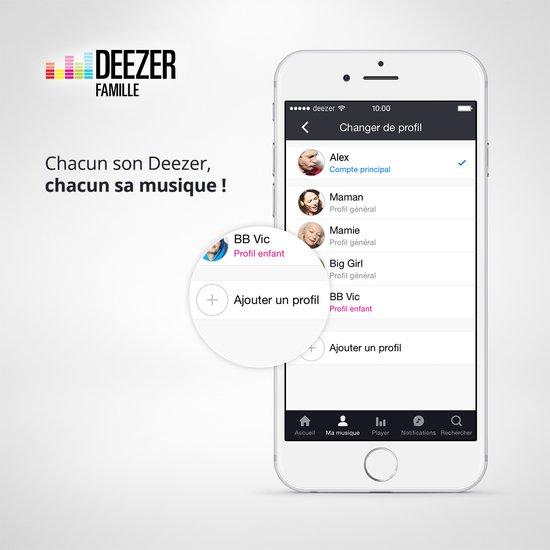 Deezer Famille : 6 profils sur le même compte pour 15 euros/mois deezer-famille