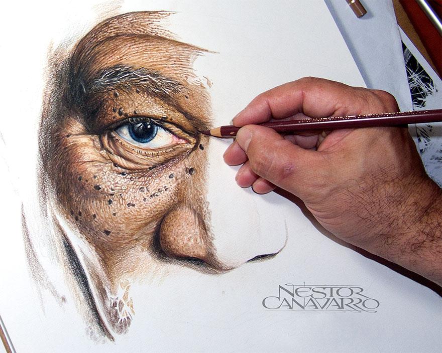 Magnifique portrait de Morgan Freeman par l'artiste Nestor Canavarro dessin-morgan-freeman-canavarro-5