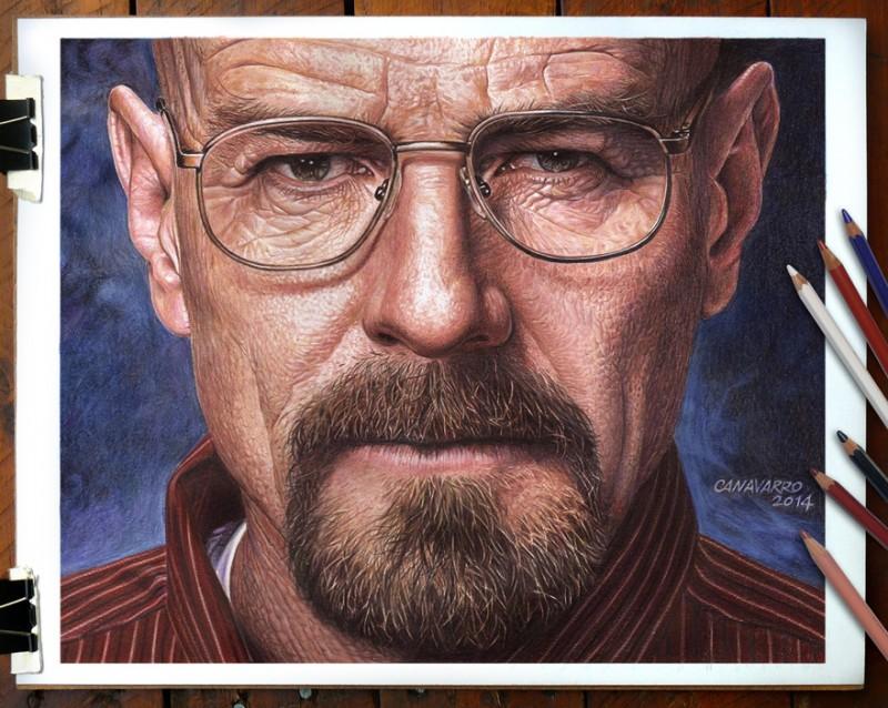 Magnifique portrait de Morgan Freeman par l'artiste Nestor Canavarro dessinscelebrites11