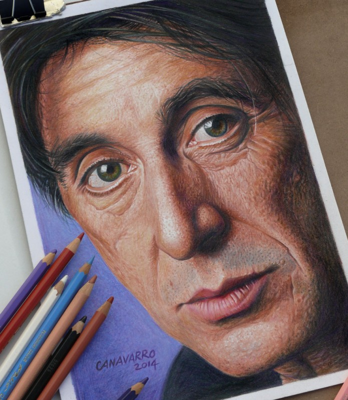 Magnifique portrait de Morgan Freeman par l'artiste Nestor Canavarro dessinscelebrites7