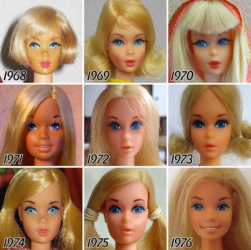 L'évolution de la célèbre poupée BARBIE depuis sa création en 1959 evolution-poupee-barbie-56-ans-1