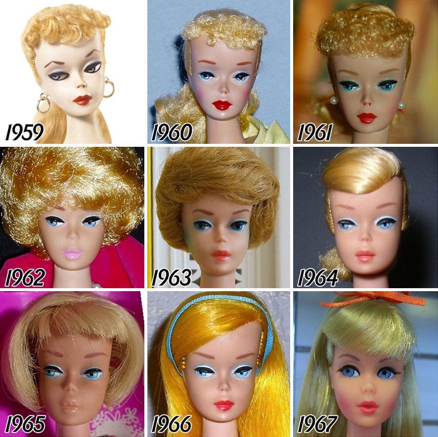 L'évolution de la célèbre poupée BARBIE depuis sa création en 1959 evolution-poupee-barbie-56-ans-2