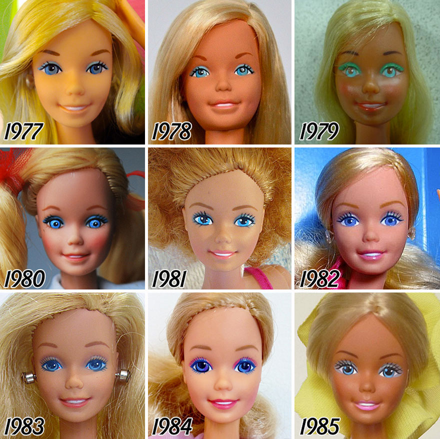 L'évolution de la célèbre poupée BARBIE depuis sa création en 1959 evolution-poupee-barbie-56-ans-3