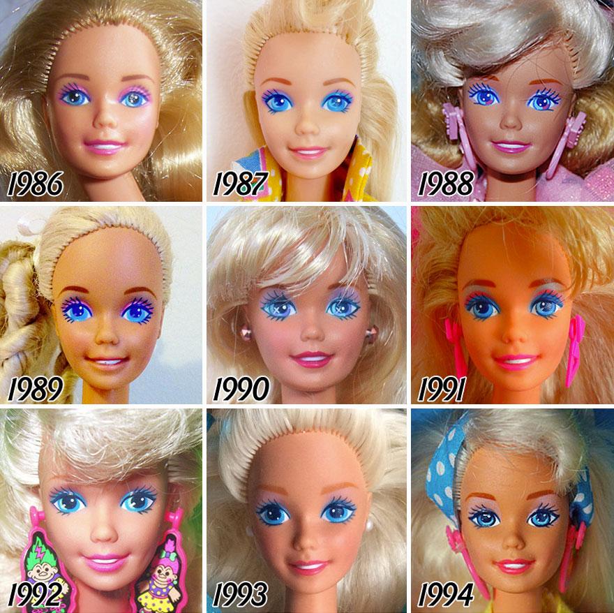 L'évolution de la célèbre poupée BARBIE depuis sa création en 1959 evolution-poupee-barbie-56-ans-4