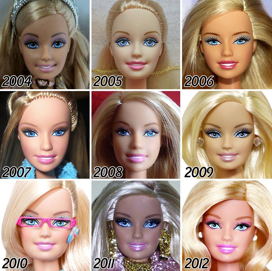 L'évolution de la célèbre poupée BARBIE depuis sa création en 1959 evolution-poupee-barbie-56-ans-5
