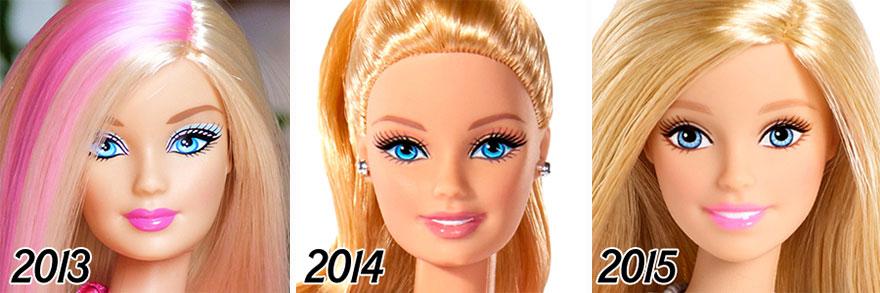 L'évolution de la célèbre poupée BARBIE depuis sa création en 1959 evolution-poupee-barbie-56-ans-6