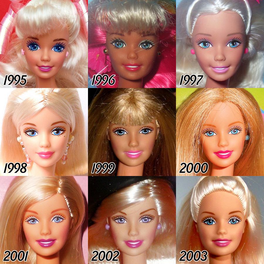 L'évolution de la célèbre poupée BARBIE depuis sa création en 1959 evolution-poupee-barbie-56-ans-8