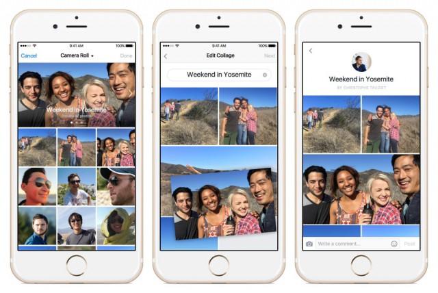 Live et Collage : deux nouvelles fonctionnalités de Facebook facebook-collages