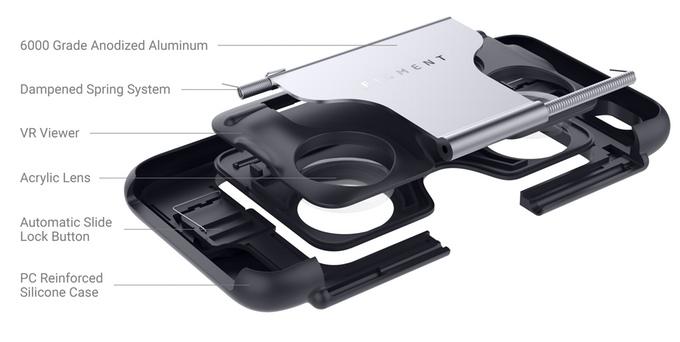 Figment VR : la coque de smartphone qui fait aussi casque de réalité virtuelle figment