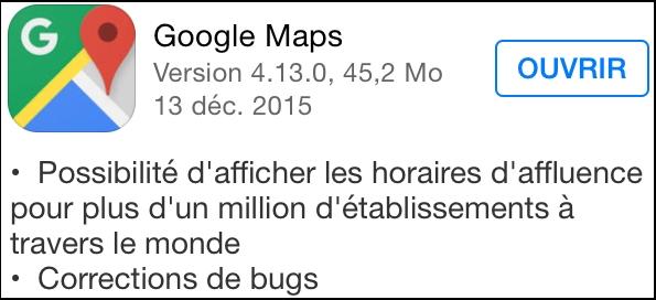 iOS : Google maps lance son mode de navigation hors ligne google_maps