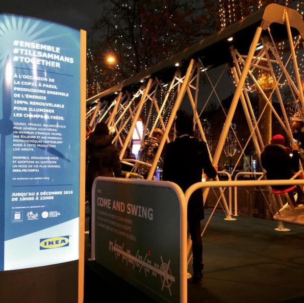 IKEA illumine l'avenue des Champs-Elysées avec des énergies 100% renouvelables ikea-illuminations-noel-paris-3