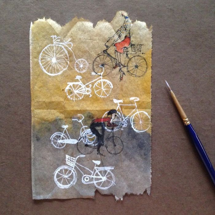 Pendant 363 jours, une artiste dessine sur des sachets de thé usagés illustration-sachet-the-363-jours-12