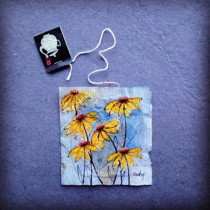 Pendant 363 jours, une artiste dessine sur des sachets de thé usagés illustration-sachet-the-363-jours-14