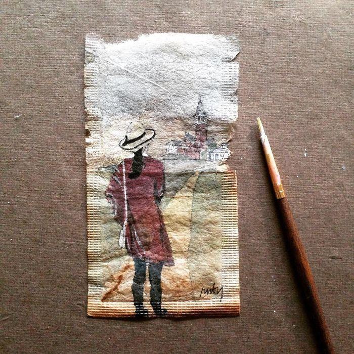 Pendant 363 jours, une artiste dessine sur des sachets de thé usagés illustration-sachet-the-363-jours-15