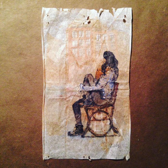 Pendant 363 jours, une artiste dessine sur des sachets de thé usagés illustration-sachet-the-363-jours-17