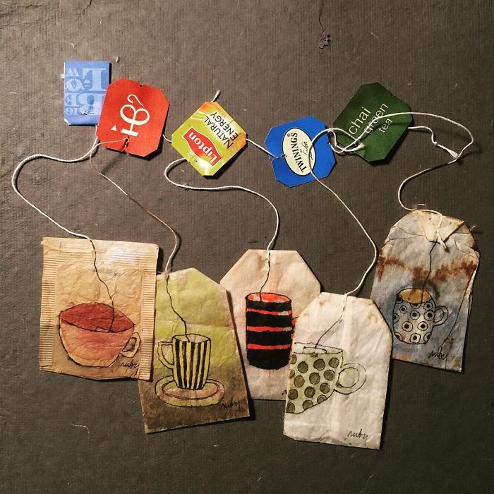 Pendant 363 jours, une artiste dessine sur des sachets de thé usagés illustration-sachet-the-363-jours-19