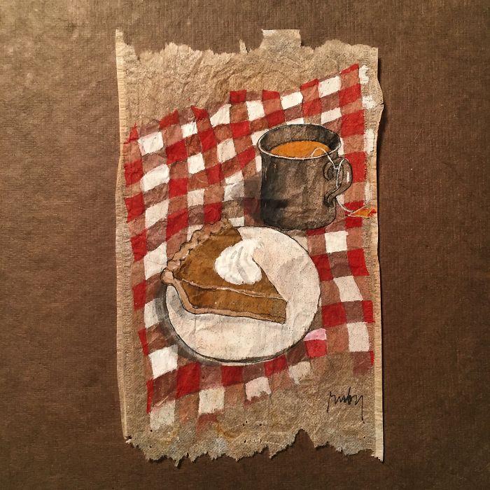 Pendant 363 jours, une artiste dessine sur des sachets de thé usagés illustration-sachet-the-363-jours-5