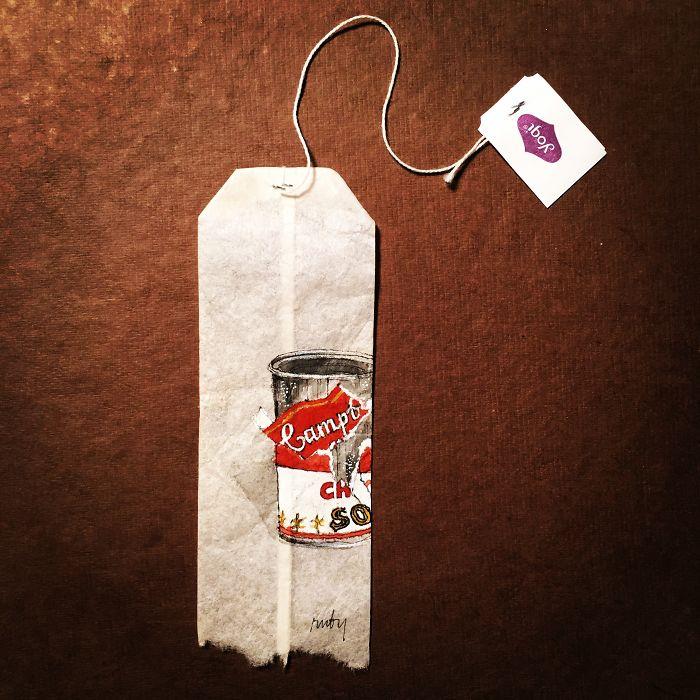 Pendant 363 jours, une artiste dessine sur des sachets de thé usagés illustration-sachet-the-363-jours-6